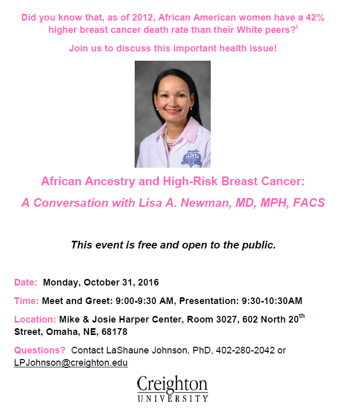Lisa Newman Breast Cancer Talk