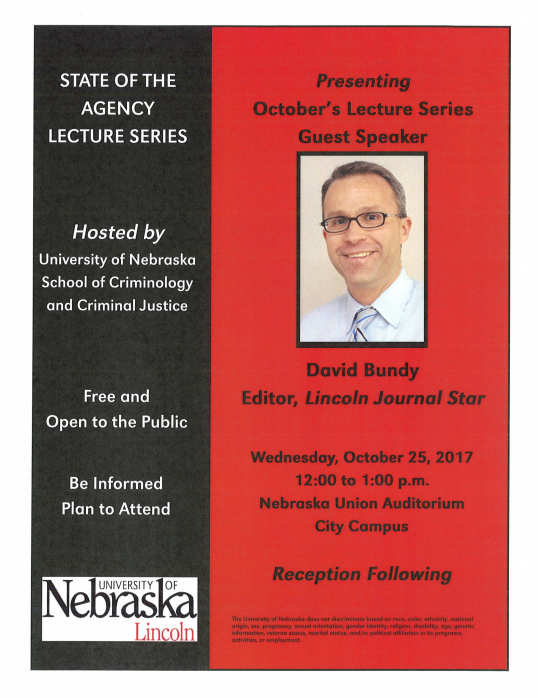 Flyer for Lecture Series